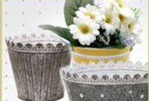 Nádoby na květiny - plechové