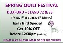 Quilt Shows and Exhibitions / All the details about our quilt shows and exhibitions as well as lots of discount codes to use when you visit us