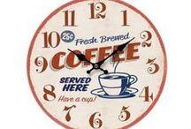 Nástěnné hodiny - retro, vintage / Hodiny s retro motivy, s motivy Paříže, Londýna a vintage motivy
