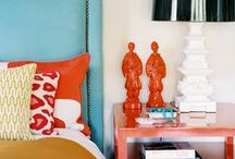 This meets that - bold colourful interiors