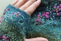 Knitting,weaving,spinning