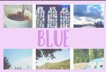 BLUE / All things blue, because it's my favourite colour.