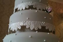 Lace Wedding Cake by Susan McEvoy