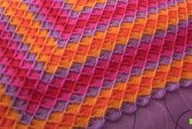 Crocheted Blankets / Ideas for blankets. / by Bianca Breen