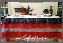 Star Spangled - Couture Linen / Our very beautiful Star Spangled ruffles couture linen, is perfect for those patriotic holidays and proudly made in the USA. For more information via www.rufflesandsweets.com #fourthofjuly #independenceday #patriotic #nationalholiday #memorialday #veteransday #oldglory #usa #starspangled