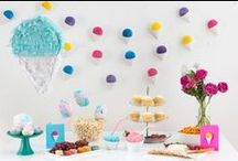 Party Style / Festive decor ideas for parties of all kinds.