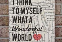 A Wonderful World / Travel I Must!