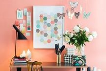 Sorbet Office Inspiration / This board is a collection of pink, coral and sorbet-colored office inspiration for the modern creative.