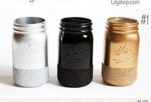Craft Ideas Glass Jars, Bottles & Cans / Decorating bottles jars and cans. / by Lena Tibballs