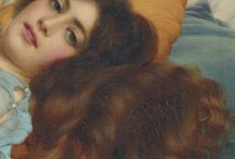 Brown hair in art / paintings of brown haired people / details of brown hair
