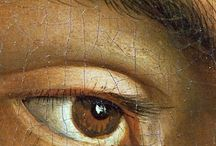 Brown eyes in art / paintings of brown eyed people / details of brown eyes
