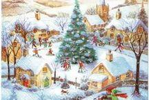 Servilletas decoupage Navidad