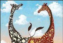 CRITTER Giraffes  : o }---------<< / Giraffes / by karen campbell