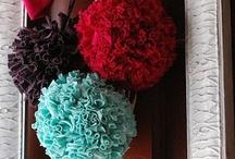 Diy - flowers, pom poms, bows
