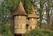 Natural homes / Beautiful and enchanting straw bale, cob, log and stone houses... Towers and green roofs.