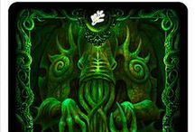 Elder Sign Edition - Cthulhu Bicycle Playing Cards / Individual card images from the Limited Elder Sign Edition of our Cthulhu Bicycle Playing Card Decks