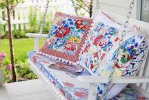 YARN & FABRIC Pillows/Cushions/Puffs / DIY pillows / by karen campbell