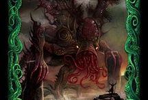"""Cthulhu: The Great Old One Card Game / Card Images from DKG's quick-play card game """"Chulhu: The Great Old One"""" featuring Characters, Monsters and Relics from the weird writings of H.P. Lovecraft"""