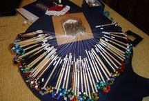 Bobbin Lace / A collection of all to do with bobbin lace, items ( new and old) including some made by me, also some patterns and equipment for making lace.
