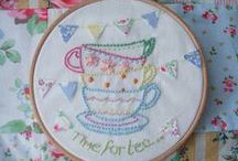 YARN & FABRIC Hoop Dee Doos / DIY embroidery hoop ideas and how-tos / by karen campbell