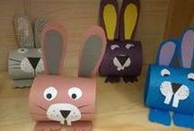 Wielkanoc / Wielkanocne prace plastyczne dla dzieci.