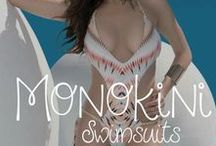 Monokinis: a one piece in the front, two piece in the back / Our favorite monokini swimsuits! #swimsuits #swimwear #bathingsuit #onepiece #monokini #designer #2015 #triangle #underwire #halter #flutter #fringe #pinup #brazilian #fullcoverage #beachwear #women #fashion #style #ootd #outfit #trendy #trending #beach