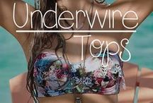 Underwire Tops: give your girls some lift and support / Our favorite underwire tops. All the lift and support you could every want! #underwire #pushup #bratop #tops #swimsuits #swimwear #bikini #bikinis #bathingsuit #trending #trendy #designer #2015 #top #twopiece #beachwear #women #fashion #style #ootd #outfit