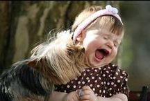 Adorable Animals w/ Cute Kids / Animals with cute kids or adults / by Connie Wilhite