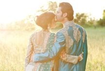 Indian wedding / Purple and gold Indian wedding lengha