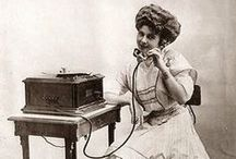 "History of the Telephone / ""Hello Girls,"" operators, pay phones, early designs, vintage ads and more. Patented by Alexander Graham Bell in 1876, the telephone continues to change our lives daily!"