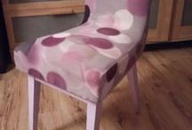 my JOB - renowacja krzesła z 1964 roku / szlifowanie drewnianej ramy, sklejenie, malowanie, lakierowanie, wymiana tapicerki..