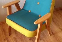 my JOB - APPLE JELLY Chierowski 366 / oryginalny kultowy fotel z 1962 r. , model '366' zaprojektowany przez Józefa Chierowskiego - oczyszczenie, szlifowanie, lakierowanie drewnianej ramy, wymiana gąbki, płócien, otapicerowanie wysokiej klasy wodoodporną tkaniną tapicerską..