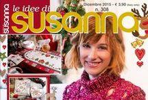 LE IDEE DI SUSANNA č. 308 prosinec 2015 / italský časopis na ruční práce: křížková výšivka a pletení včetně předloh