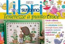 LIBRI SUSANNA č. 7 březen 2016 / Italský časopis - speciál pro křížkovou výšivku - další informace na www.finery.cz