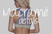 Macrame Detailing: Its the details that count / Macramé detailed styles! #macramé #sexy #macramé #details #swimsuits #swimwear #bikini #bikinis #monokini #onepiece #twopiece #trending #trendy #designer #2017 #beachwear #women #fashion #style #ootd #outfit