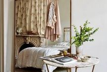 Parisian Interiors / Add a touch of Parisian design to your own home! Inspiration including fresh flowers, marble fireplaces, chandeliers, floor-length curtains and fine upholstery!