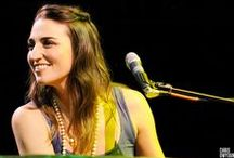"""Sara Bareilles / """"I think I've got anger management issues, and they end up coming out in these passive-aggressive songs that sound happy.""""-Sara Bareilles / by Meghan Bell"""