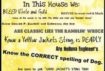 House Rules!  / GT themed signs posted in Alum households! No better way to bring up the next generation of Yellow Jackets! =D