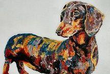 bardzo długi pies - dachshund