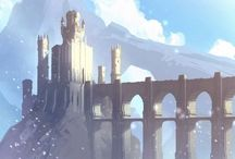 Environments / Fairytale cities, landscapes, deserts, mountains, and all things wondrous.