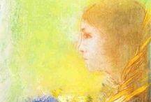 A glimpse | Odilon Redon