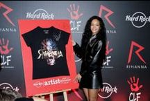 RIHANNA au Hard Rock Cafe Paris ! / Rihanna Artist Spotlight Reveals ! On June 5, Rihanna launched her Limited Edition Spotlight shirt at Hard Rock Cafe Paris! Hard Rock makes Donation to the International Superstar's The Clara Lionel Foundation