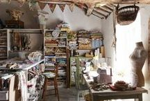 creative space & sewing studio / ideas for my work and sewing room