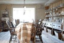 simple kitchens / ideas and beautiful things for the breakfast room, kitchen, and larder