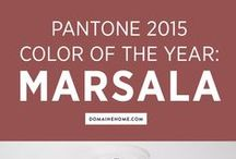 Marsala 2015 / Pantone color of the year for 2015, Marsala!