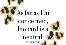 Love Leopard. / Leopard print everything.