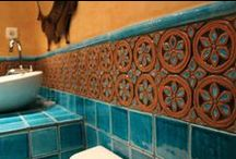 Bathroom tiles / Handmade tiles combine art and functionality.  We manufacture custom handmade ceramic tiles of exceptional quality.  Ceramic tiles are not just charming and beautiful but also practical and durable.  Our tiles will dramatically enhance your bathroom, add value to your home and you will love them for years to come. / by GVega Ceramica