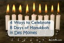 Hanukkah 4 Kids / Family friendly crafts, activities, decorations and food to celebrate Hanukkah with kids.