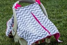 Car Seat Canopies / Our minky car seat canopies/covers to match the blankets, over 20 styles!