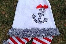 Anchors Away! / The ship has arrived bringing these nautical outfits for girls and boys. Starting in sizes 0-6 up to size 8.